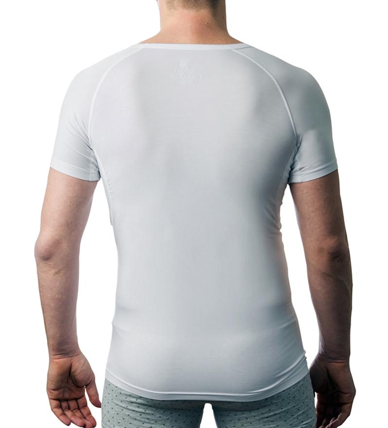 DRYWEAR T-shirt runder Auschnitt Ansicht hinten weiss