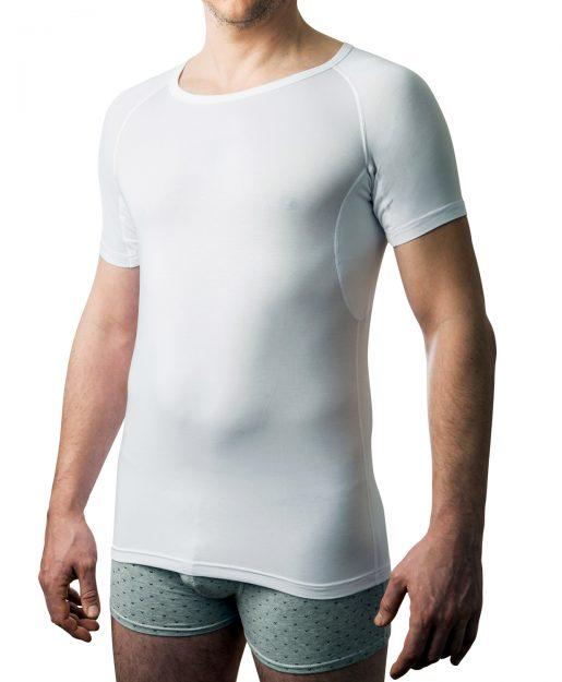 DRYWEAR T-shirt runder Auschnitt Frontansicht weiss